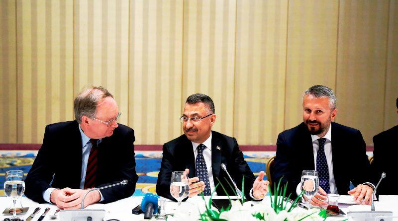 Oktay, Büyükelçi Şopanda'nın  iftar davetinde konuştu