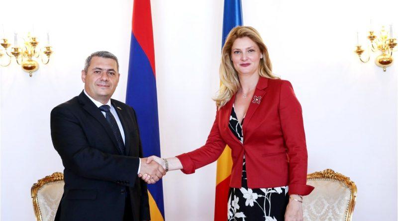 Bakan Mănescu, Ermenistan Büyükelçisi ile görüştü