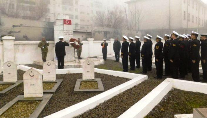 Mavi Vatan'ın kahraman bekçileri Slobozya Türk Şehitliği'nde