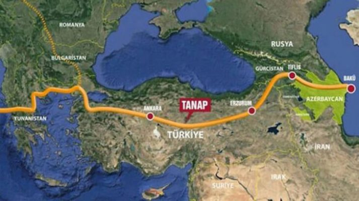 TANAP'tan Avrupa'ya test gazı pompalandı