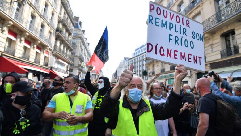Sarı Yelekliler Rumenlere destek için yeniden sokakta